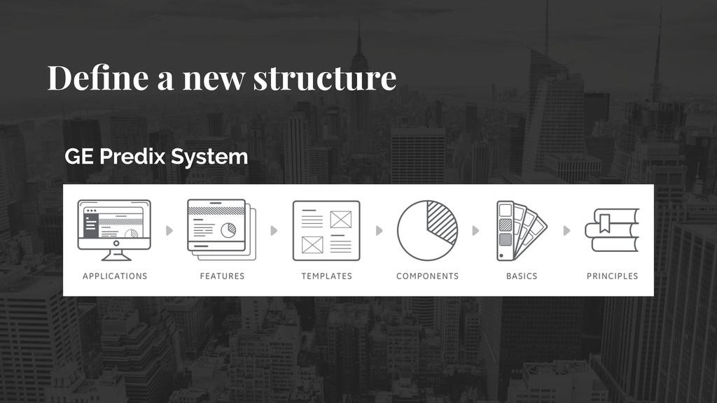 Define a new structure GE Predix System