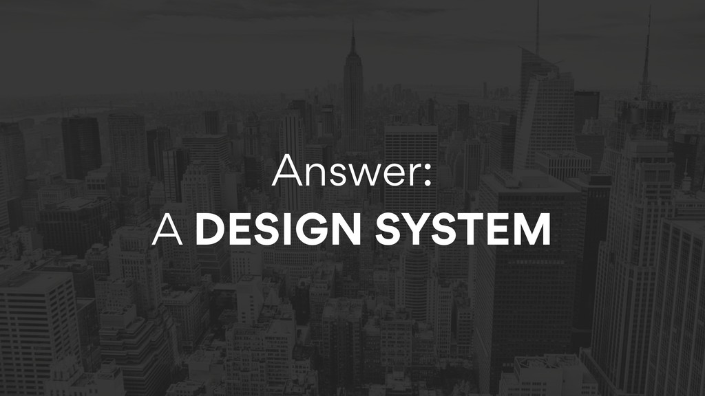 Answer:  A DESIGN SYSTEM
