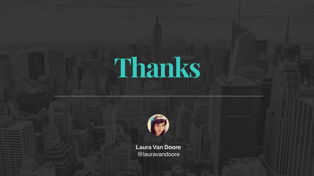 Thanks Laura Van Doore @lauravandoore