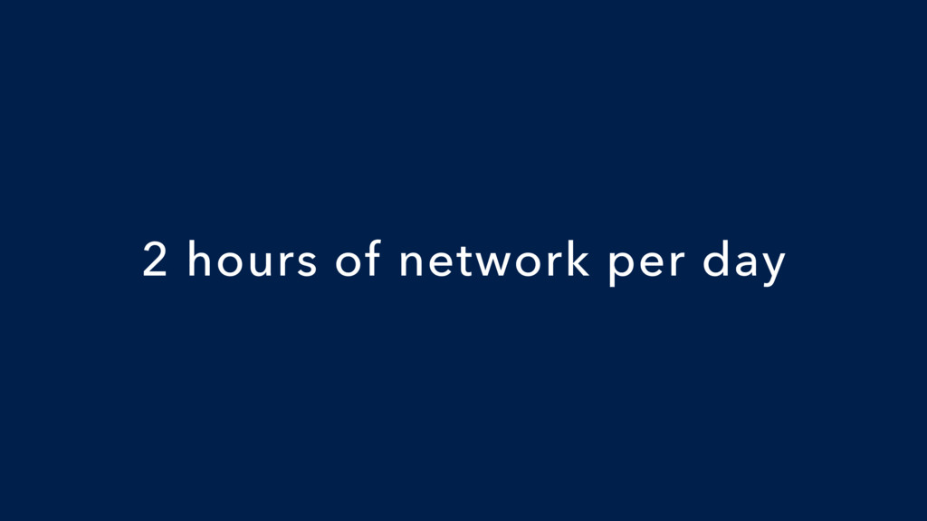 2 hours of network per day