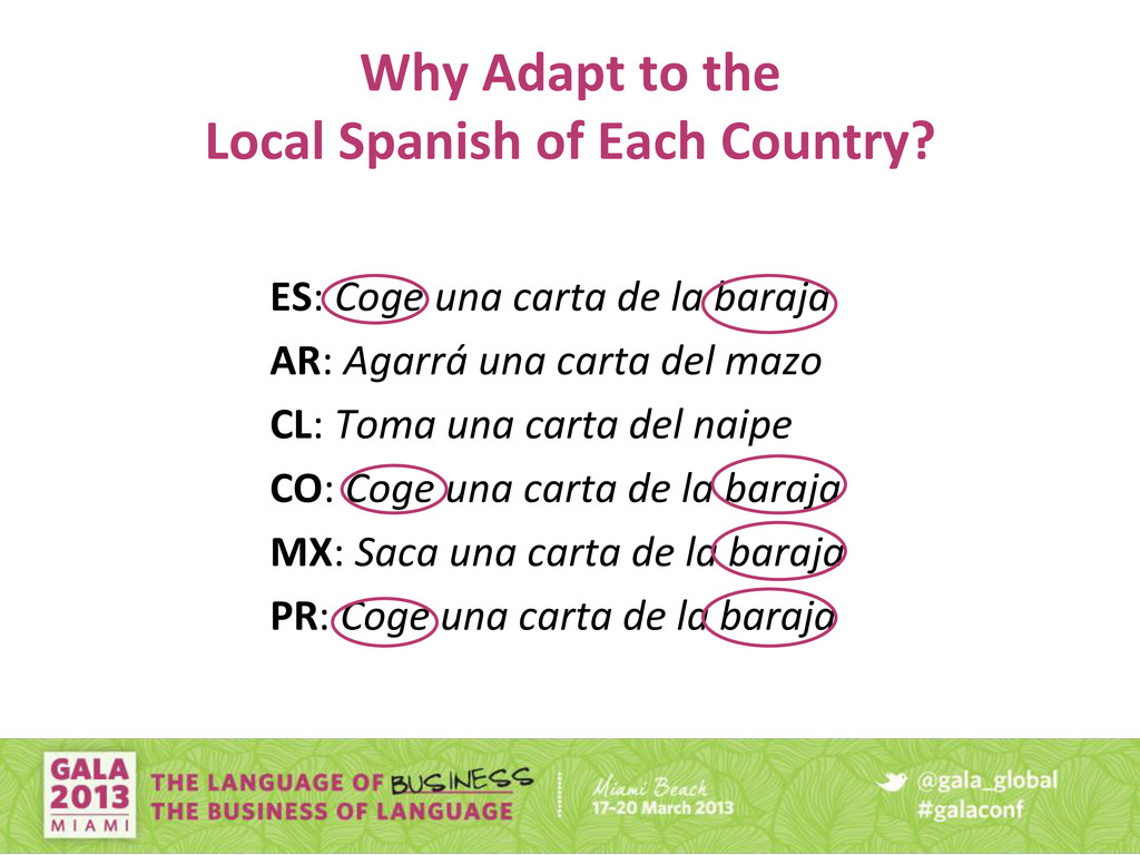 Why Adapt to the Local Spanish of Each Country?...