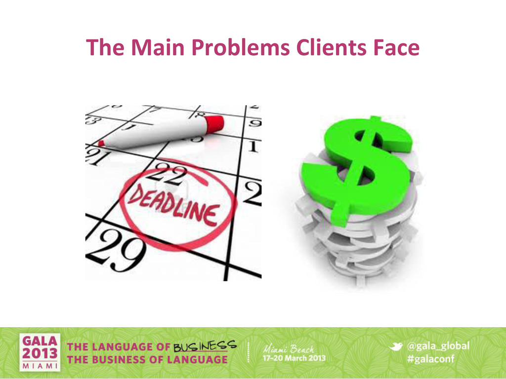 The Main Problems Clients Face