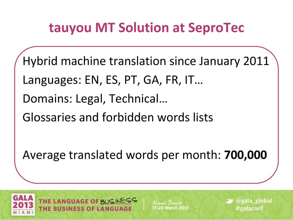 tauyou MT Solution at SeproTec Hybrid machine t...
