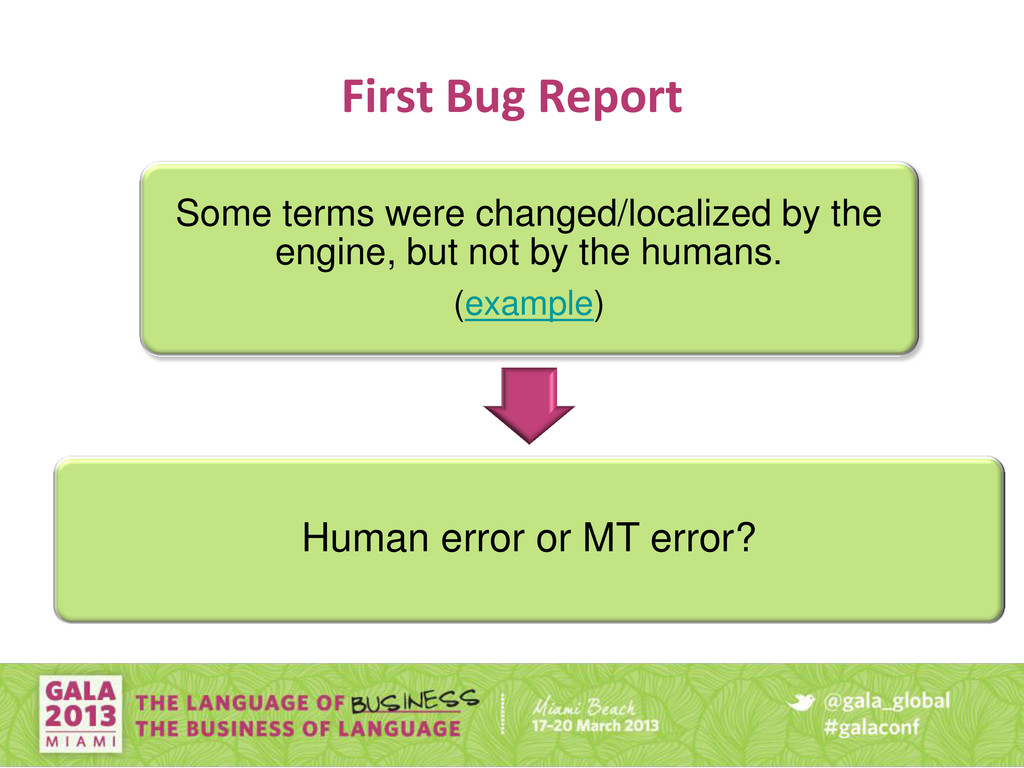 First Bug Report Some terms were changed/locali...