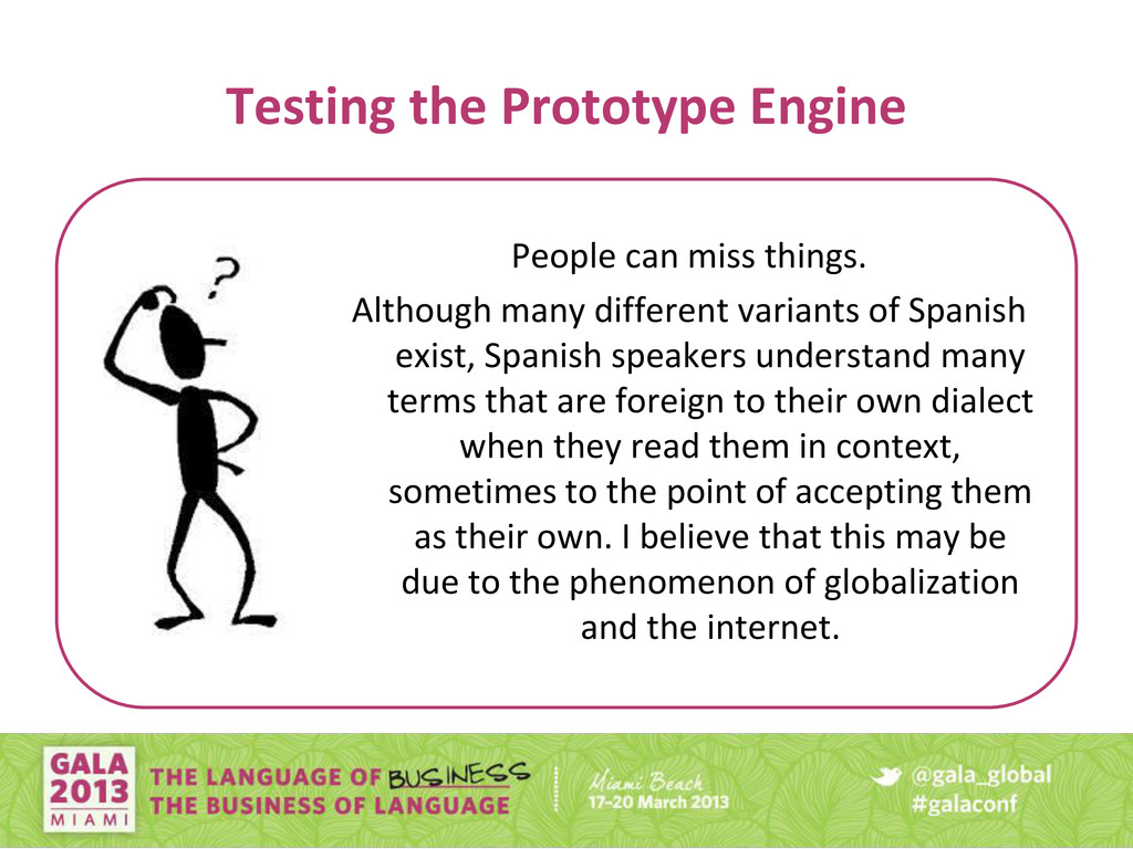 Testing the Prototype Engine People can miss th...