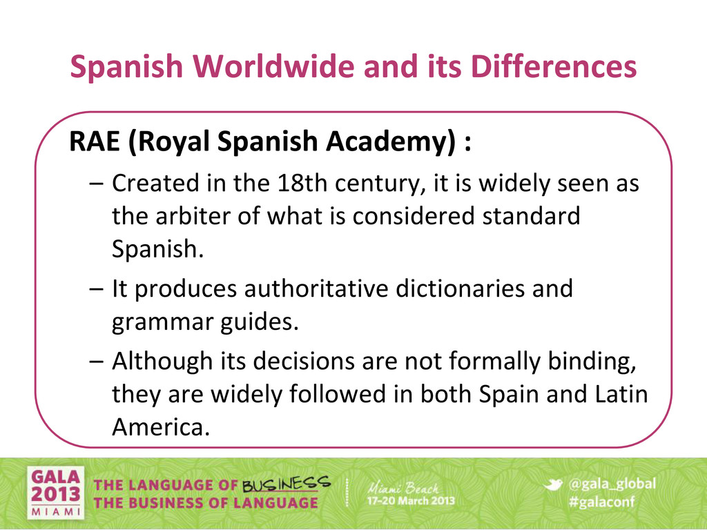 Spanish Worldwide and its Differences RAE (Roya...