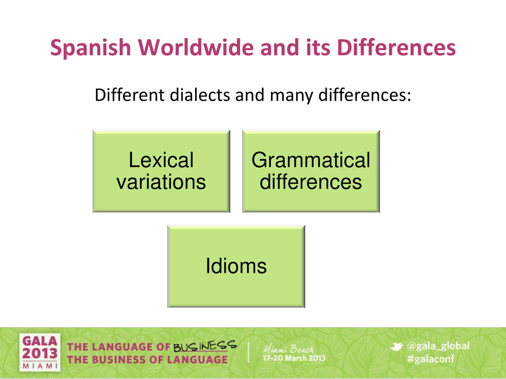 Spanish Worldwide and its Differences Lexical v...