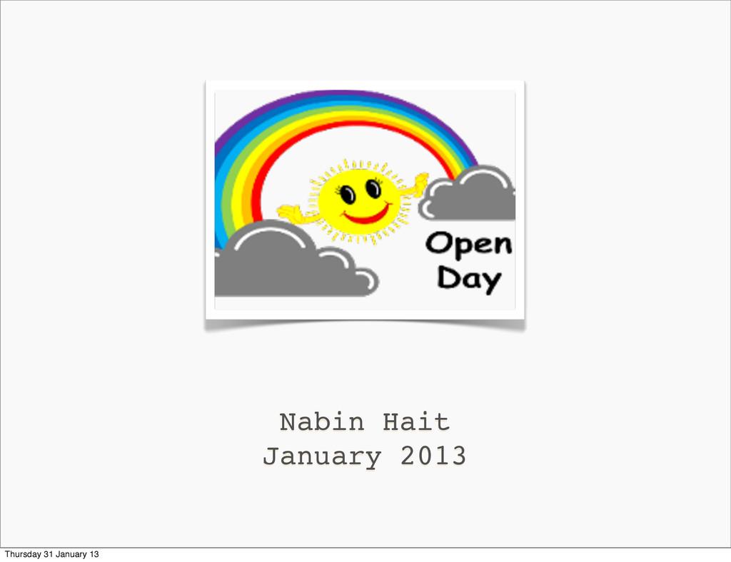 Nabin Hait January 2013 Thursday 31 January 13