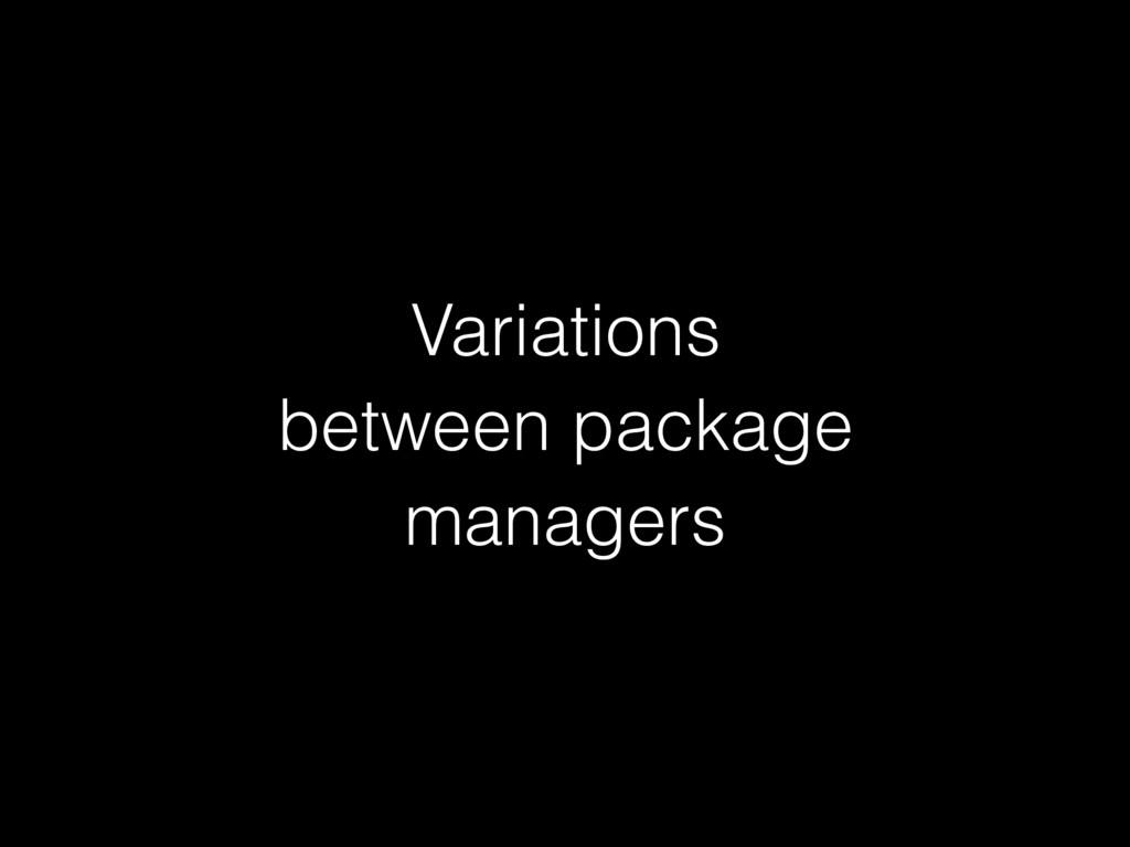 Variations