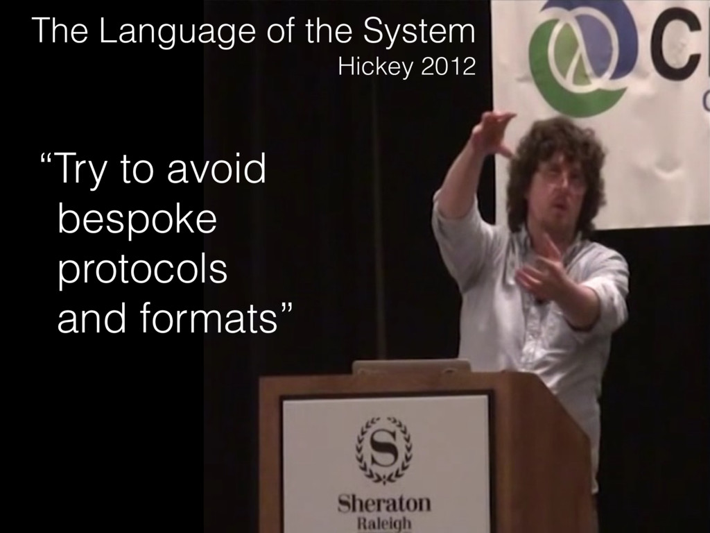 "The Language of the System Hickey 2012 ""Try to ..."