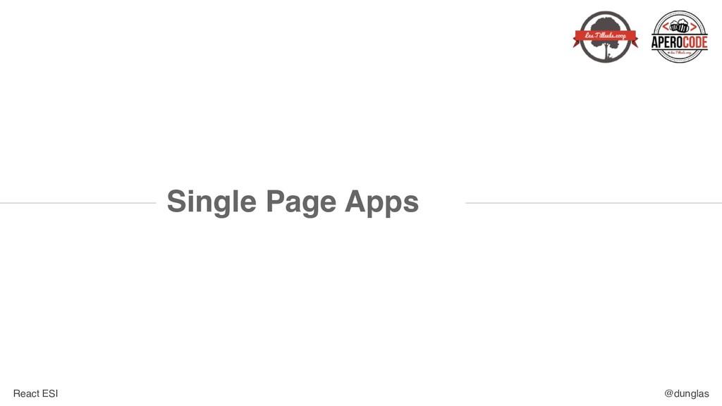 React ESI @dunglas Single Page Apps