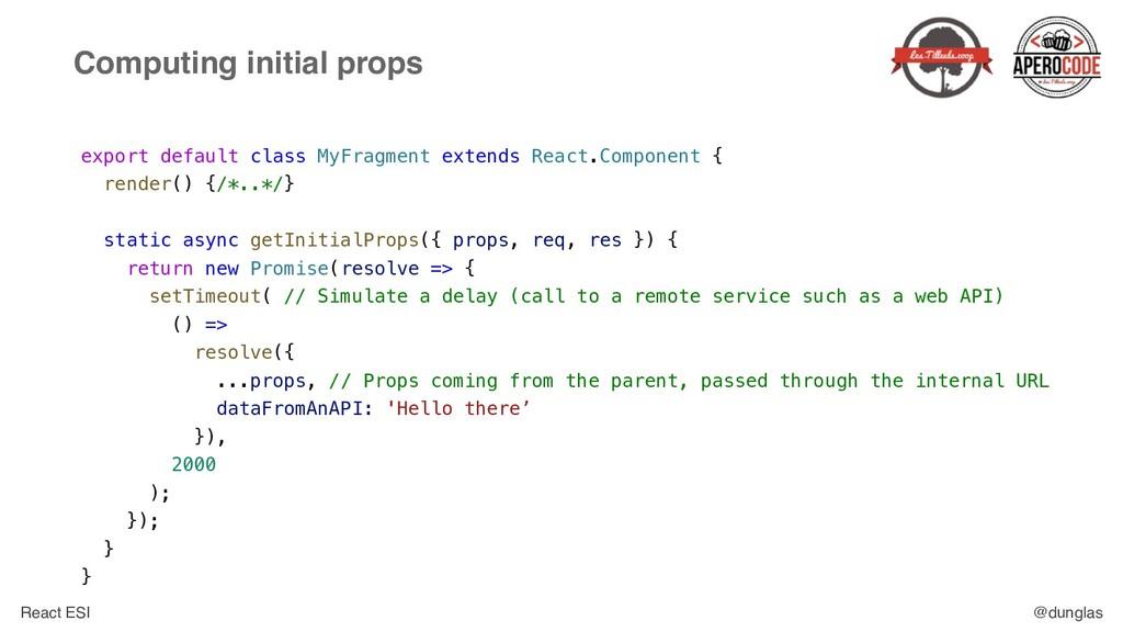 React ESI @dunglas Computing initial props expo...