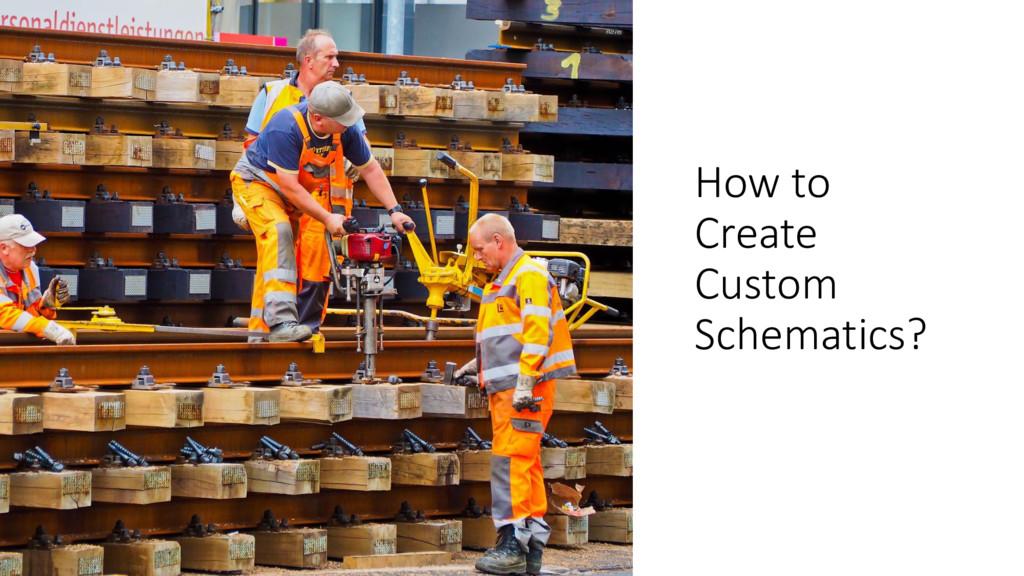 ManfredSteyer How to Create Custom Schematics?