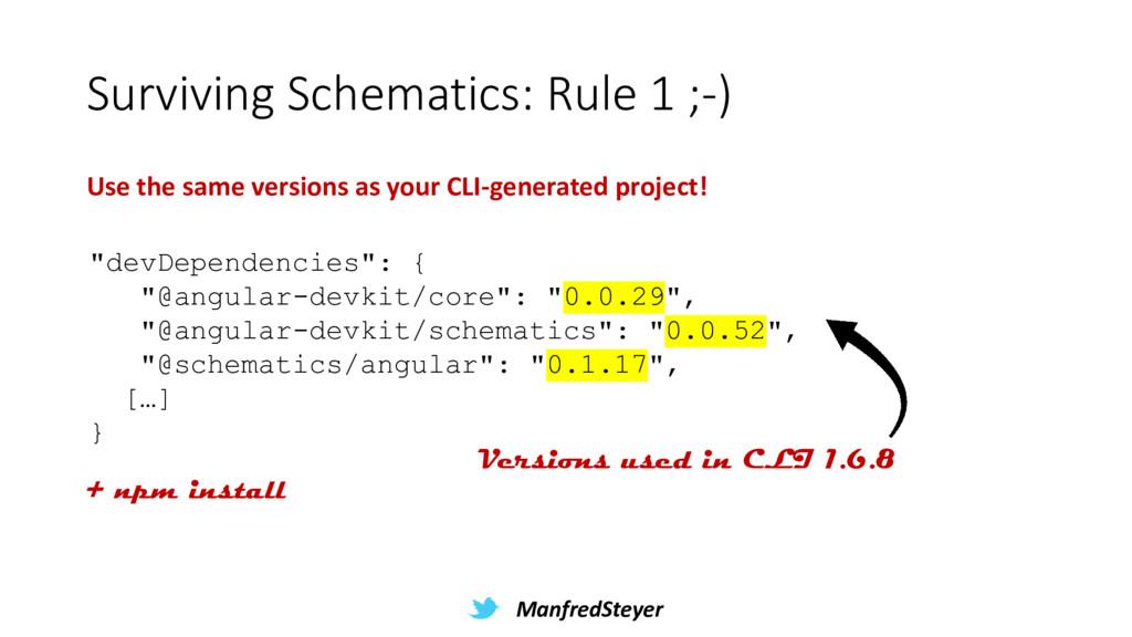 ManfredSteyer Surviving Schematics: Rule 1 ;-) ...