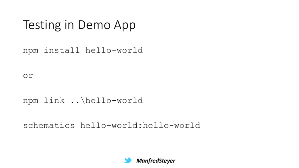 ManfredSteyer Testing in Demo App npm install h...