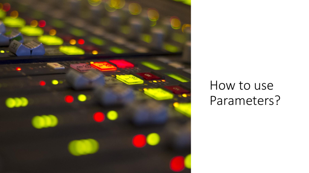 ManfredSteyer How to use Parameters?