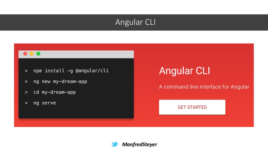 ManfredSteyer Angular CLI