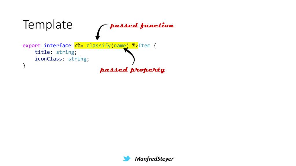 ManfredSteyer Template export interface <%= cla...