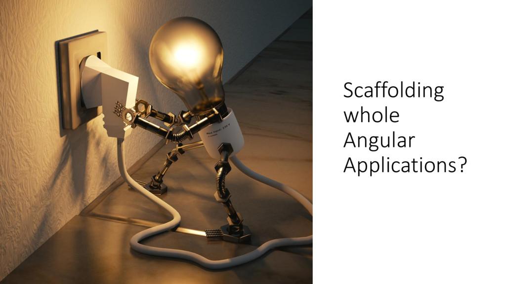 ManfredSteyer Scaffolding whole Angular Applica...