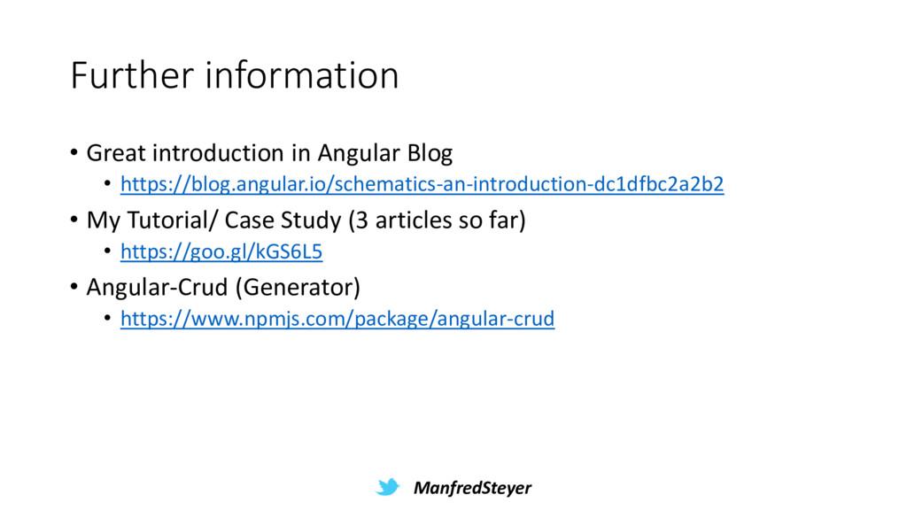ManfredSteyer Further information • Great intro...