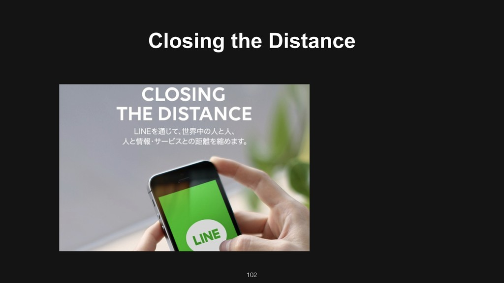102 Closing the Distance