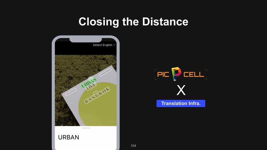 104 Translation Infra. X Closing the Distance