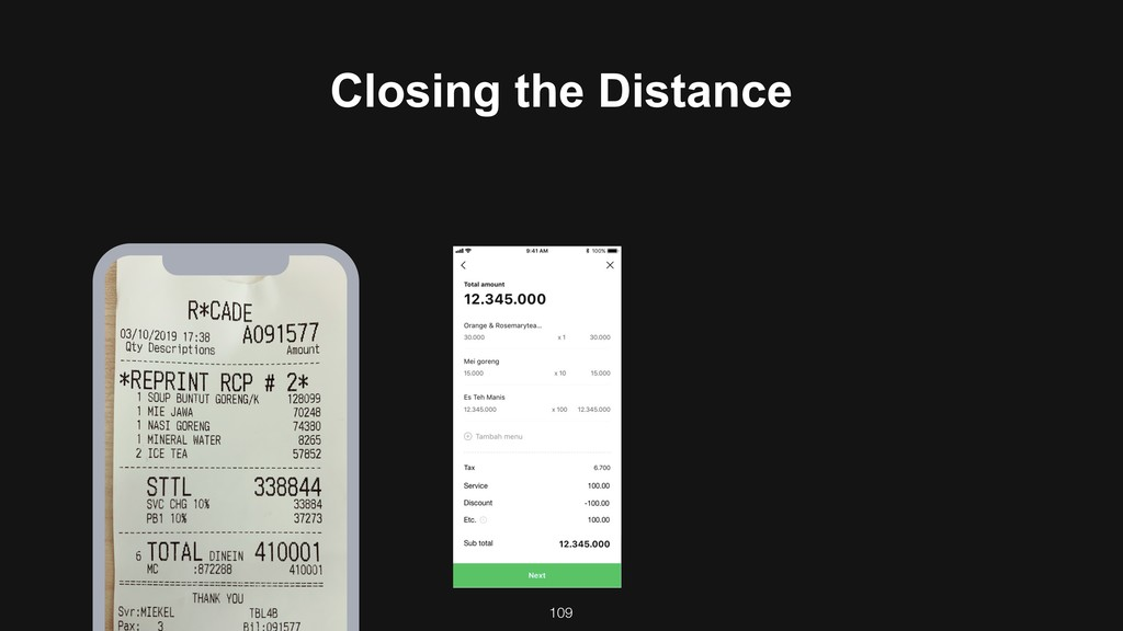 109 Closing the Distance