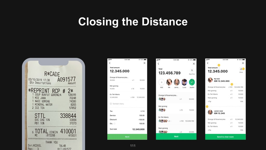 111 Closing the Distance