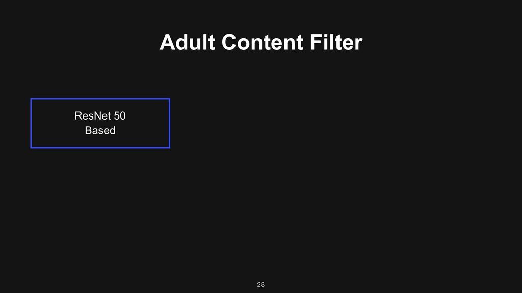 ResNet 50 Based 28 Adult Content Filter
