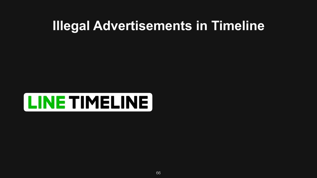 66 Illegal Advertisements in Timeline