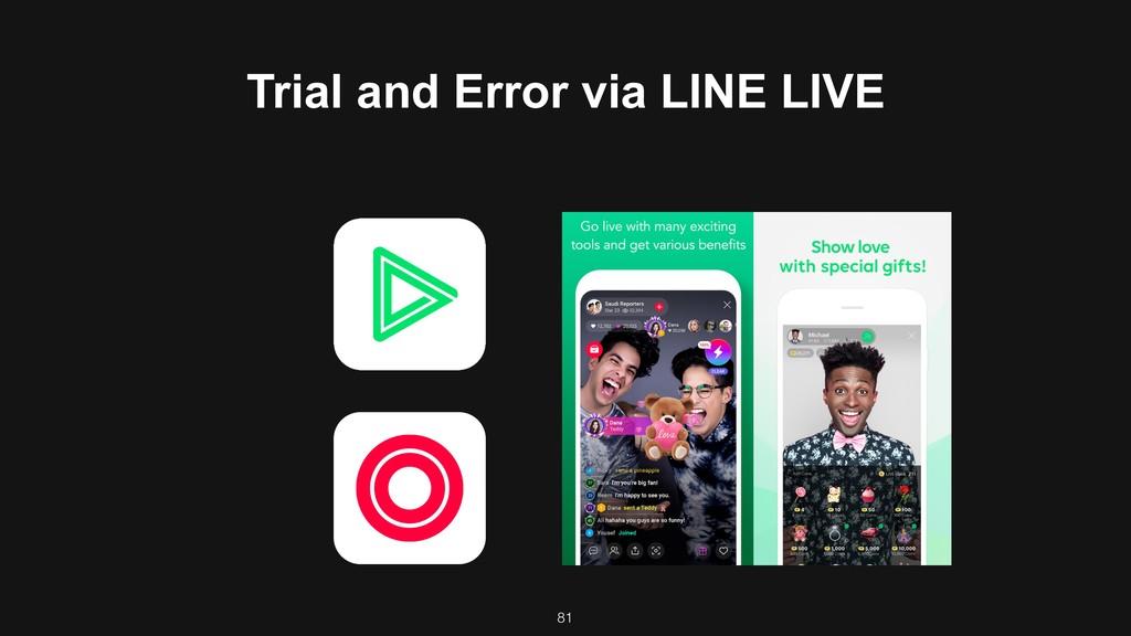81 Trial and Error via LINE LIVE