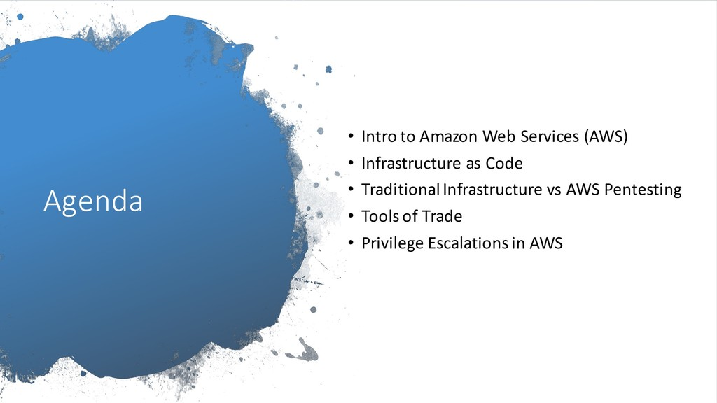 Agenda • Intro to Amazon Web Services (AWS) • I...