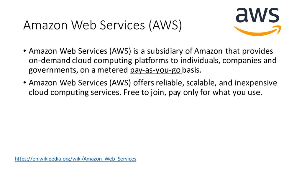 Amazon Web Services (AWS) • Amazon Web Services...