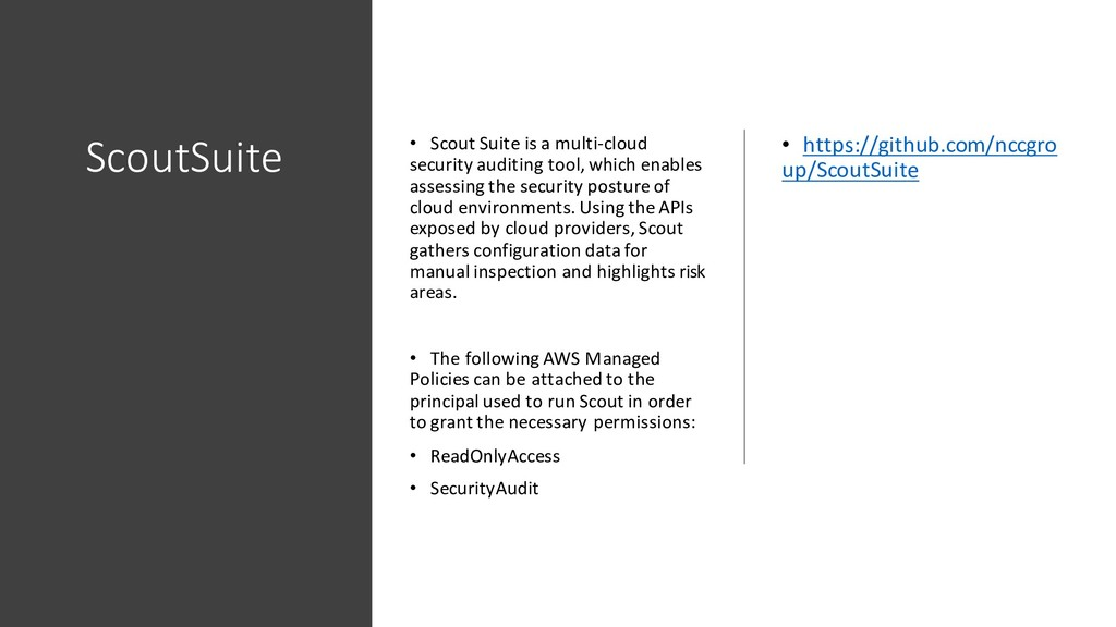 ScoutSuite • Scout Suite is a multi-cloud secur...