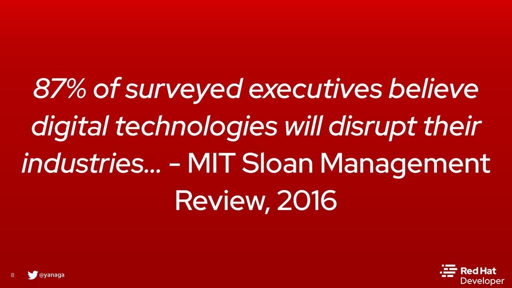 @yanaga 8 87% of surveyed executives believe di...