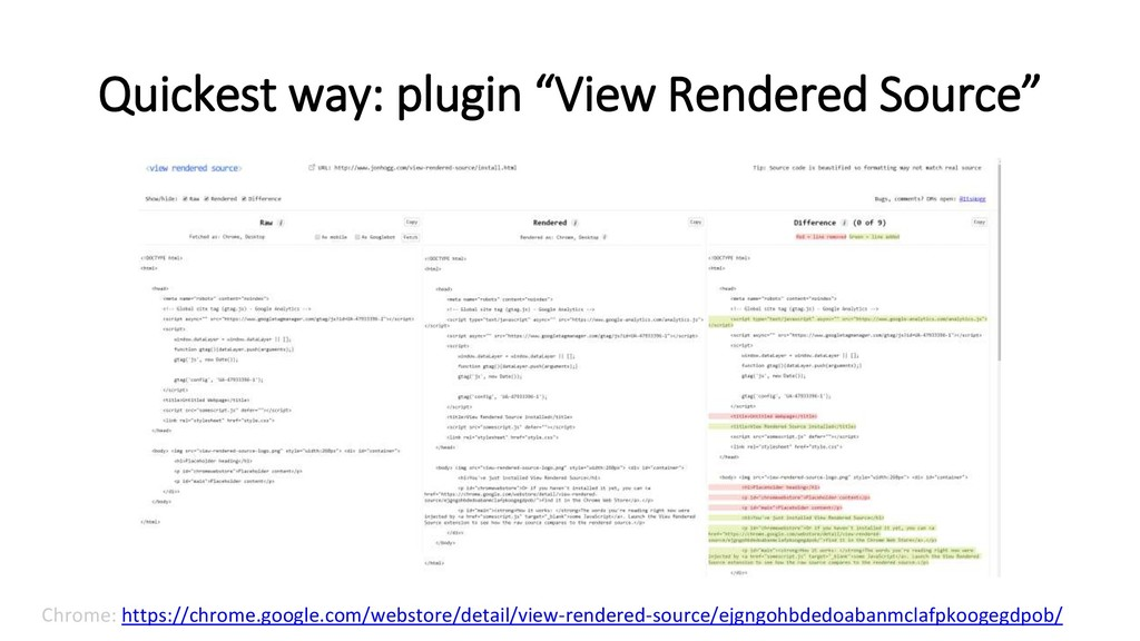 "Quickest way: plugin ""View Rendered Source"" Chr..."
