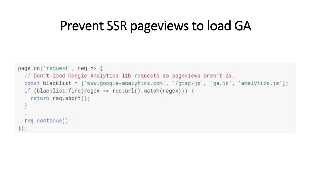 Prevent SSR pageviews to load GA