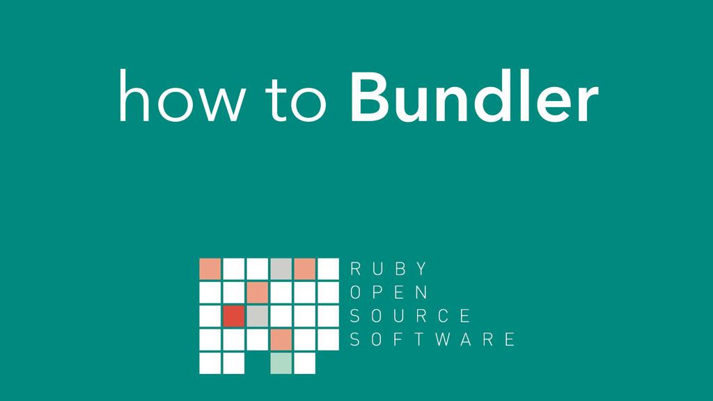 how to Bundler