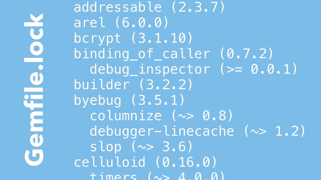 addressable (2.3.7) arel (6.0.0) bcrypt (3.1.10...