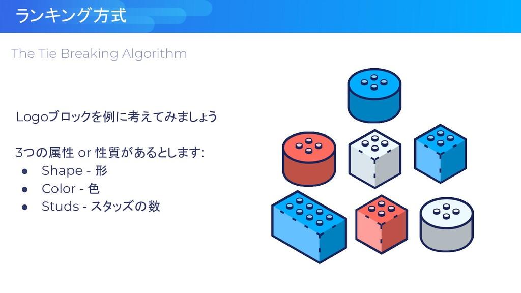 ランキング方式 The Tie Breaking Algorithm Logoブロックを例に考...