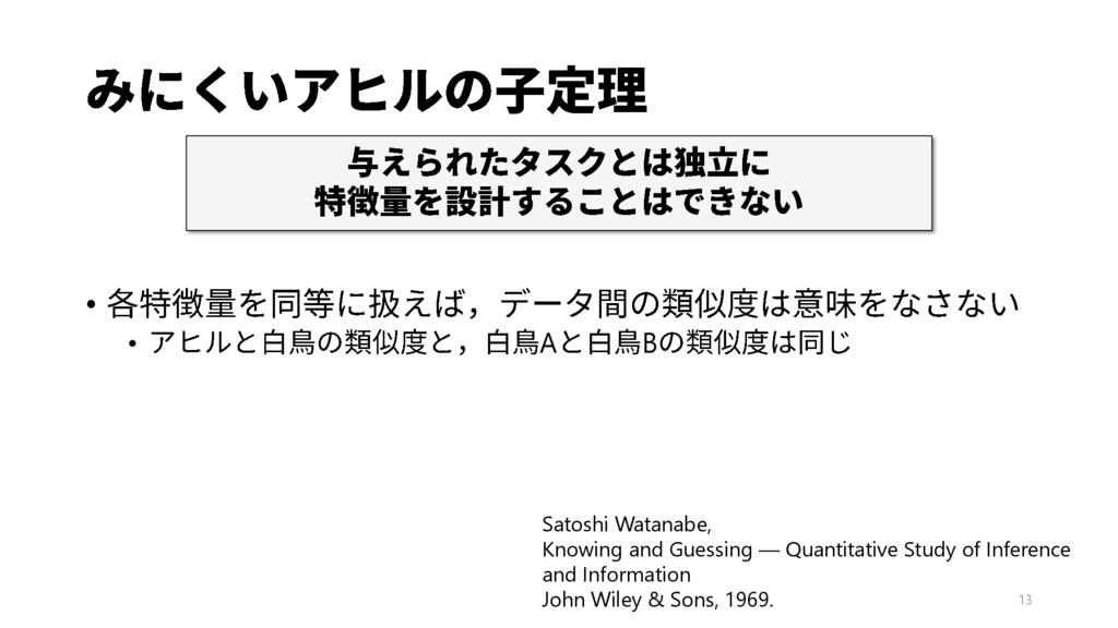 13 • • A B Satoshi Watanabe, Knowing and Guessi...
