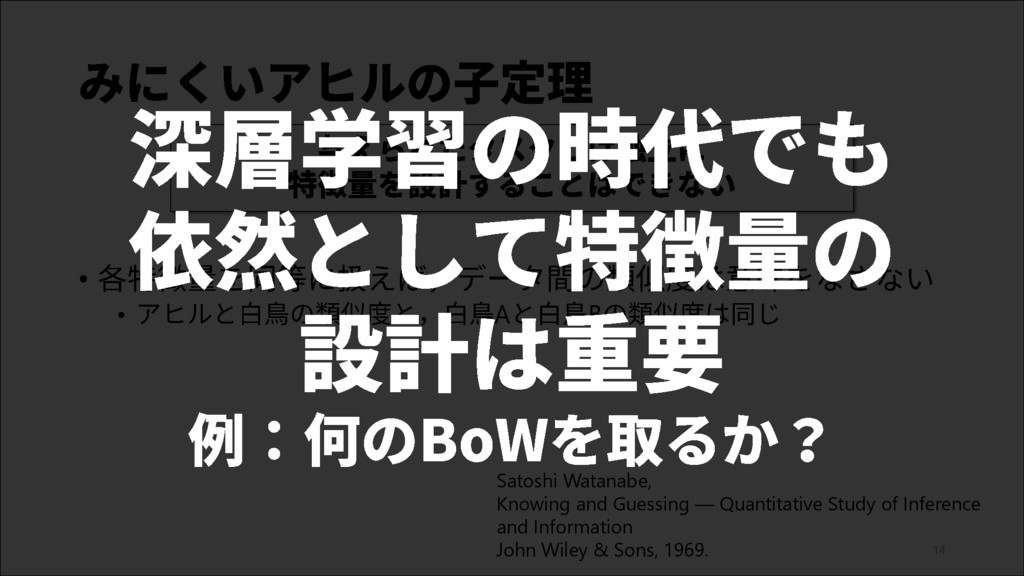 14 • • A B Satoshi Watanabe, Knowing and Guessi...
