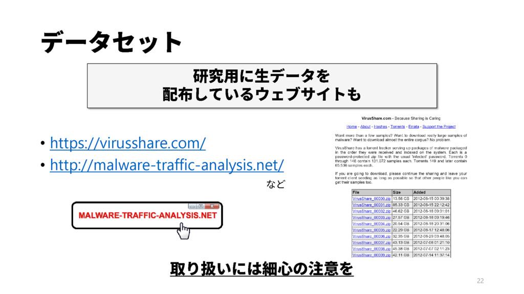 22 • https://virusshare.com/ • http://malware-t...