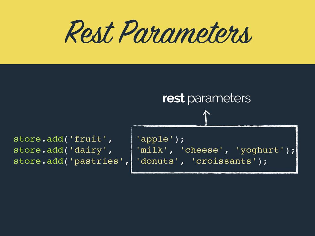 Rest Parameters store.add('fruit', 'apple'); st...