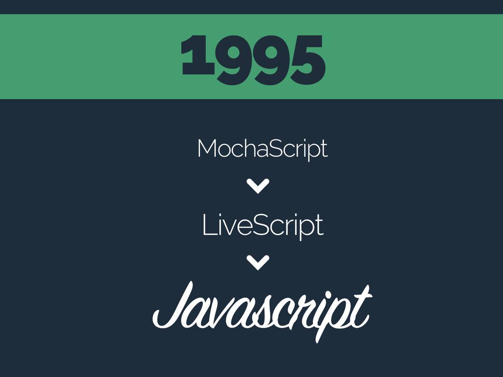 1995 MochaScript LiveScript Javascript