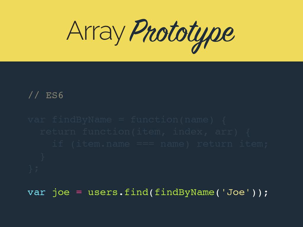 Prototype Array // ES6 var findByName = functio...