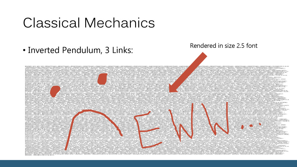 Classical Mechanics • Inverted Pendulum, 3 Link...