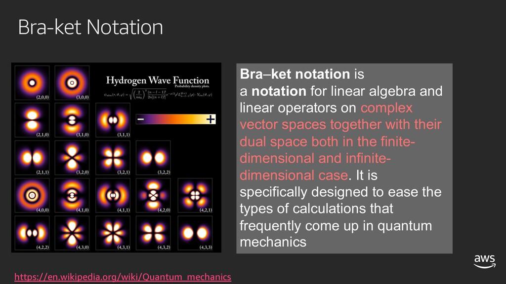 Bra-ket Notation https://en.wikipedia.org/wiki/...