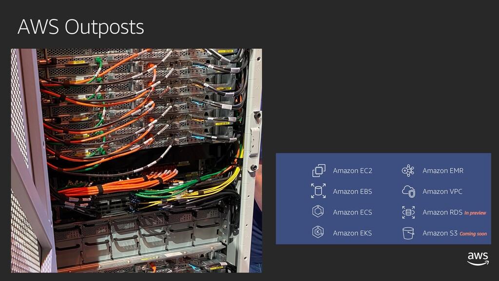 AWS Outposts Amazon EC2 Amazon EBS Amazon ECS A...