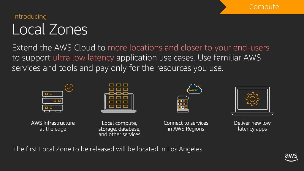 Local Zones Introducing Extend the AWS Cloud to...